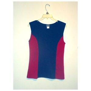 Red and Black Peplum Top